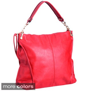 Faux Leather Removable-strap Shoulder Bag