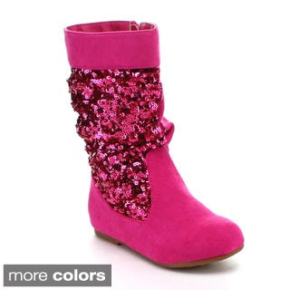 Jelly Beans Toddler Girls 'Sarago' Sequined Mid-calf Boots