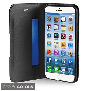 BasAcc Premium Dual Colors Stand Flap Leather Case for Apple iPhone 6 4.7-inch