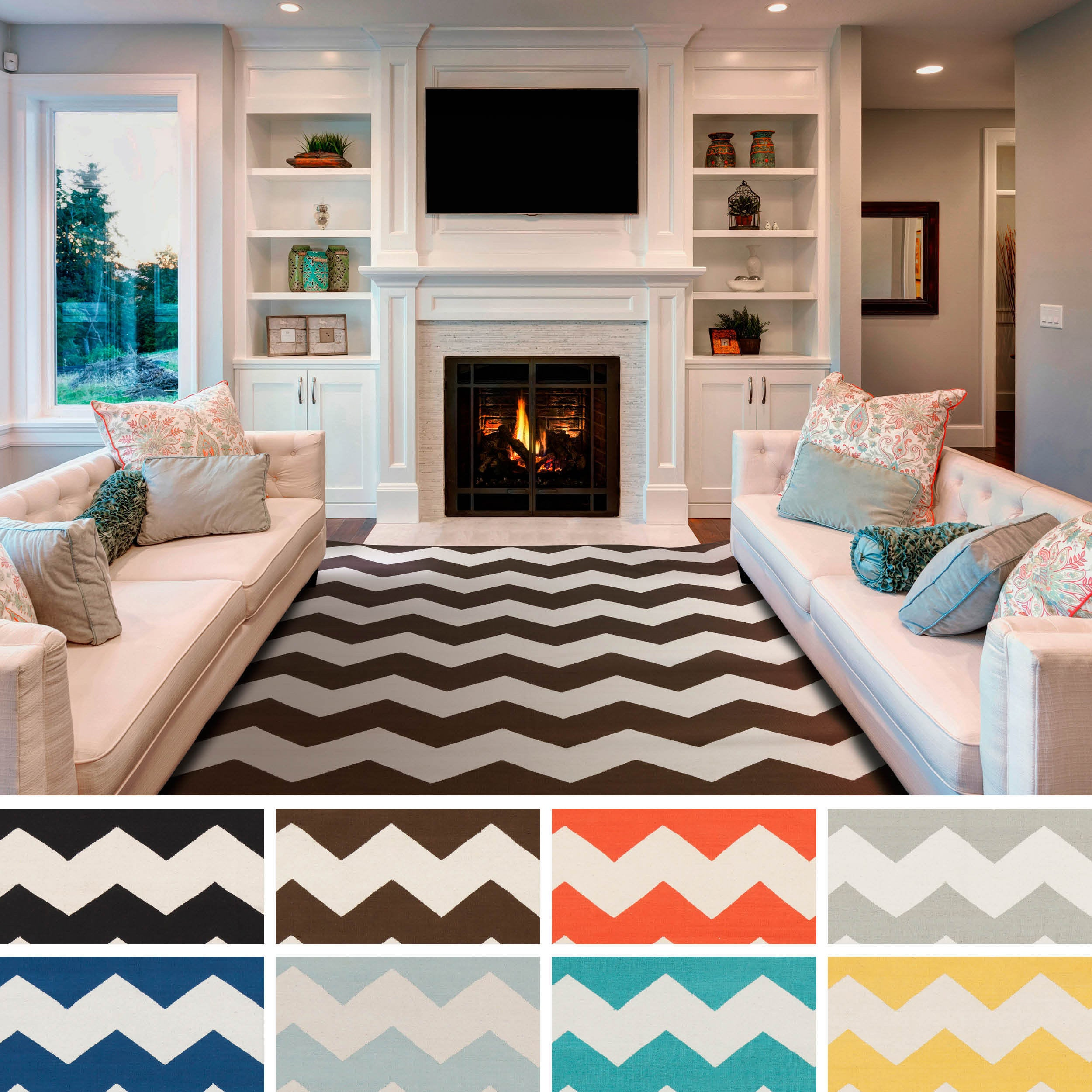Artistic Weavers Hand-woven Macy Chevron Cotton Area Rug (3' x 5')