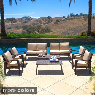 Christopher Knight Home Waikiki Outdoor 8-piece Wicker Seating Set with Cushions