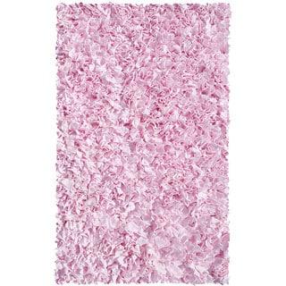 Shaggy Raggy Pink Cotton Rug (2'8x4'8)