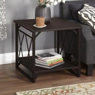 Simple Living Seneca Double-X End Table