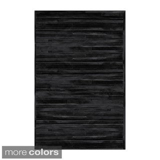 Natural by Lifestyle Brands Linear Cowhide Area Rug (8'x10')