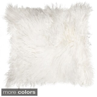 Natural Mongolian White Sheepskin Pillow
