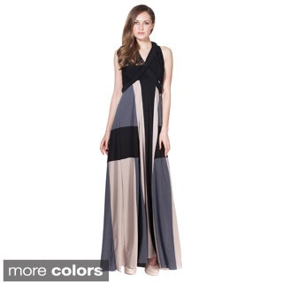 Von Ronen Women's Colorblock Long Convertible Dress One Size Fits 0-12 (One Size Fits 0-12)