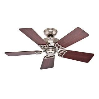 Hunter 'Hudson' 42-inch Brushed Nickel/ Cherry/ Maple Ceiling Fan