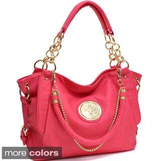 Side Buckle Tote Handbag