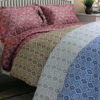 Lorena Paisley 300 Thread Count Cotton 3-piece Duvet Cover Set