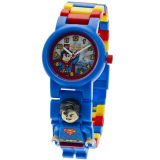 LEGO Kids' 9005619 DC Universe Super Heroes Superman Minifigure Link Watch