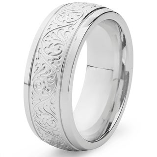 Stainless Steel Ring with Engravings