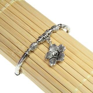 Tibetan Silver Flower Charm Bracelet (China)
