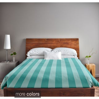 88 x 88-inch Stripe Print Duvet Cover
