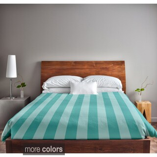 104 x 88-inch Two-tone Striped Duvet Cover