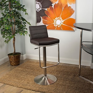 Zolo Brushed Stainless Steel Adjustable Height Swivel Stool