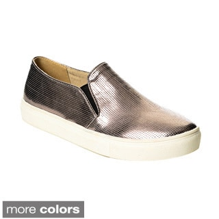 Henry Ferrera Women's Perforated Metallic Casual Shoes