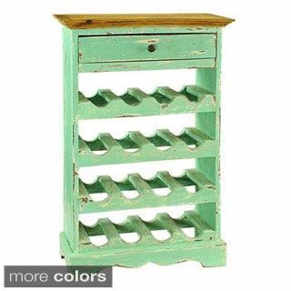 Auburn Turquoise Single-drawer Wine Cabinet