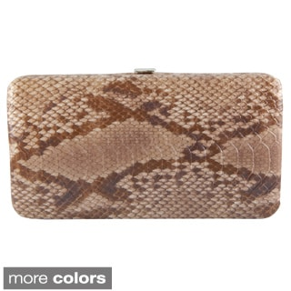 Vecceli Italy Snake-embossed Long Wallet