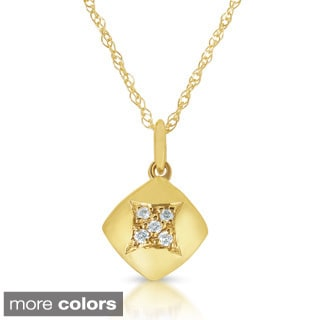 14k Yellow or White Gold Diamond Accent Necklace (GH, I1-I2)
