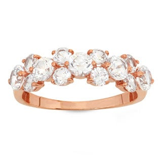 Gioelli 10KT Gold 3.59 tcw Up and Down CZ Ring