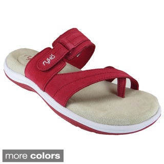 Ryka Cross Strap Leather Sandal - FREE Shipping & Exchanges | Shoebuy.com