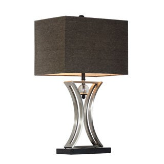 Elegant Designs Chrome/ Black Hourglass Shape with Pendulum Table Lamp