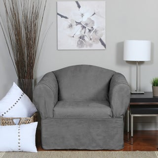 Luxury Suede One-piece Relaxed Fit Wrap Chair Slipcover
