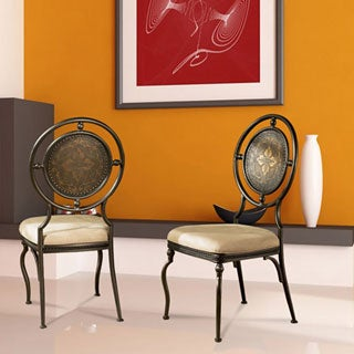 Powell Basil Antique Brown Dining Side Chairs (Set of 2)