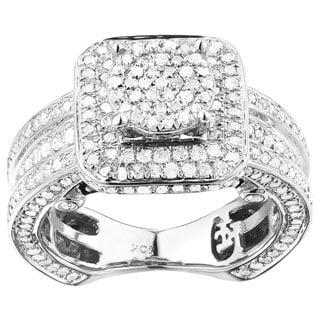 10k White Gold 1 1/5ct TDW Diamond Ring Set (G-H, I1-I2)