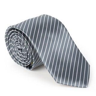 Vance Men's Silk Touch Microfiber Patterned Skinny Tie