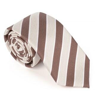 Vance Men's Wool Blend Microfiber Patterned Skinny Tie