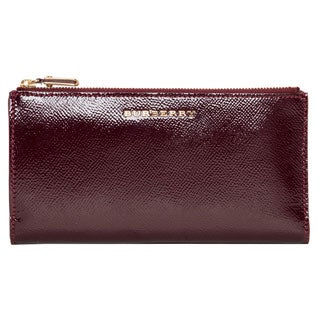 Burberry 'London' Deep Claret Patent Leather Continental Wallet