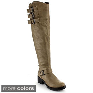 Nature Breeze Women's 'Chuck-01H' Over-the-knee Riding Boots