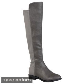 Journee Collection Women's 'Gwen' Gore Stretch Knee-high Riding Boot