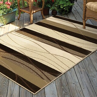 Indoor/ Outdoor Napa Traverse Beige Rug (7'8 x 10'10)