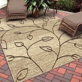 Indoor/ Outdoor Napa Stonebrooke Beige Rug (7'8 x 10'10)