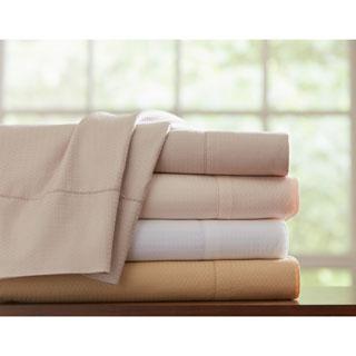 Pointehaven Dobby Pima Cotton Sheet Set and Pillowcase Separates