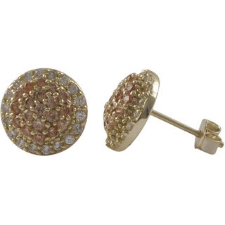 Luxiro Sterling Silver 10mm Round Cubic Zirconia Stud Earrings