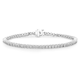 Sterling Silver 1/3ct TDW Diamond Tennis Bracelet (H-I, I1-2)