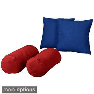 Better Fit Better Comfort Twill/ Soft Suede 18-inch Square/ Bolster Throw Pillows (Set of 2)