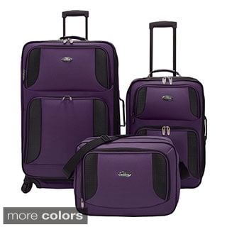 U.S. Traveler Bridgetown 3-piece Expandable Luggage Set