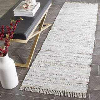 Safavieh Hand-woven Rag Rug White Cotton Rug (2'3 x 7')
