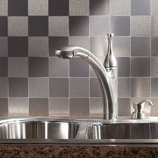 Aspect Stainless Peel and Stick Tiles (5 square feet)