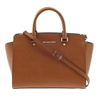 MICHAEL Michael Kors Selma Saffiano Large Top-Zip Satchel Luggage