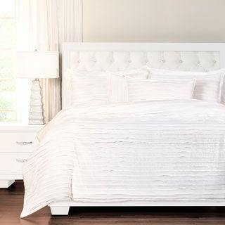 Tattered White Luxury Cotton Duvet Cover Set