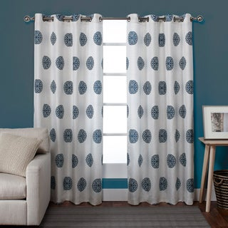 ATI Home Sedgewick Linen Blend Grommet Top Curtain 84 - 96-inch Length Panel Pair