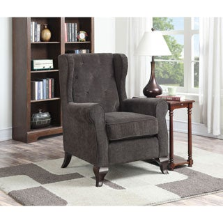 Deluxe Carolyn Brown Button-tufted Accent Chair