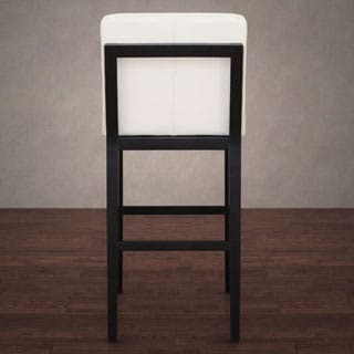Bobby Modern White Leather Barstool
