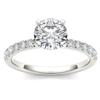 De Couer 14k White Gold 3/4ct TDW Diamond Classic Engagement Ring (H-I, I2)