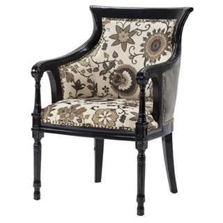 Madison Park Wilshire Spooled Leg Exposed Wood Arm Chair